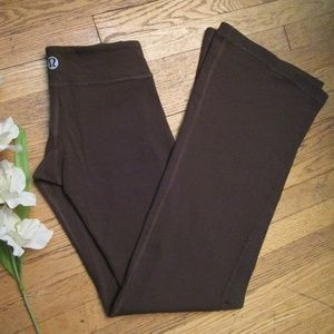Lululemon Brown Stretch Yoga Pants Small Leggings
